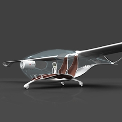 "The first prize at the Lucky Strike Junior Designer Award 2008 goes to Roland Cernat - ""Oriens"", a sustainable and energy-saving  cradle to cradle motor glider."