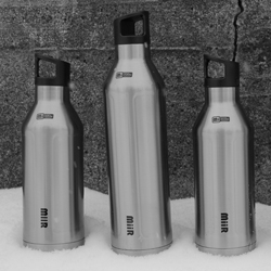 The new MiiR insulated stainless steel bottle. Designed to keep your hot things hot, your cold things cold, and every bottle provides one person with clean water for an entire year!