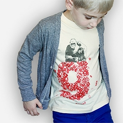 Animal Alphabet Tee by bioME 5: Workshop - organic children's goods with a modern take on the traditional animal alphabet.