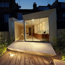 The Facet House - a remodeling and extension to an Edwardian terrace house in Hammersmith, London, by Paul McAneary Architects.