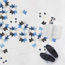'Keidos: Walk on limitless kaleidoscopic tiles'. The new tile collection by Mutdesign for Enticdesigns.
