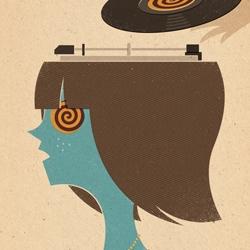 'Mind Control' is a hypnotic new print by illustrator Zara Picken.