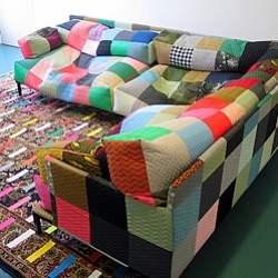 Beanbag couch and duct tape rug by Bertjan Pot usher in a new era of the Patchwork Nation.