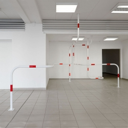 WEGSPERRE [road block] site specific art installation by CANDY LENK at the Gallery M, Berlin.