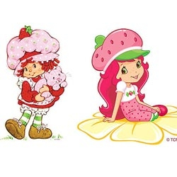 And the children's characters are modified to the 21 st century | The 1980s Strawberry Shortcake has been updated to spend her time chatting on a cellphone instead of brushing her calico cat.