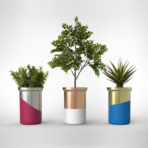 As your plant grows, the Sabi Planter will age and develop its unique color and patina. The planters will be showcased at New York Design Pavilion during NYCxDESIGN 2016. by Jung Soo Park