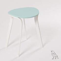 Ave, a stool inspired in birds' flight, where the seat represents the body of the bird and the legs represent the bird wings in motion.  By Moises Hernandez.