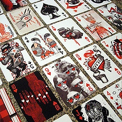 This is another beautiful deck, lovingly created by over 30 artists of the Black Rock Collective. Is it a pack of playing cards of 52 exclusive pieces of art?