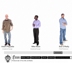 The F.A.M. is a network of young professionals and close friends who specialize in a wide variety of art and design talents. The site houses information on each member's background, portfolio, and contact.