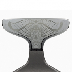 Limited edition Punk Jewelry Chair, engraving by trendy Italian jewelry designer Manuel Bozzi- chair design by Archirivolto for the Salon del Mobile, Milan