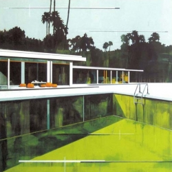 Australian artist Paul Davies creates beautiful, wistful paintings of modernist houses and has a new exhibition opening soon.