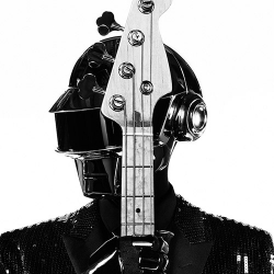 Daft Punk photographed in Los Angeles by Hedi Slimane for the latest music project campaign. The French duo are wearing stage wear designed specially for them by Hedi Slimane for Saint Laurent.