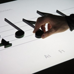 """Excellent idea of interactive music table """"Noteput"""" by Jürgen Graef and Jonas Heuer."""