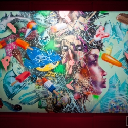 David Choe's first L.A show in 6 years taking place at Lazarides Gallery, Beverly Hills.