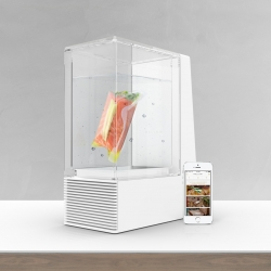 Mellow, the new way to cook sous-vide. Wireless smart control, ability to keep foods at refrigerator temperatures, to make life easier, and to have great food every day.