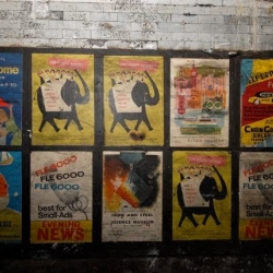 These posters were recently discovered during works at Notting Hill tube station - advertising frozen in time.