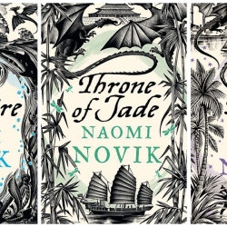 British artist Andrew Davidson has designed some really nice covers for Naomi Novik's books about the dragon Temeraire.