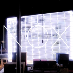 NOX allows visitors to shut down the entire interactive facade of the museum during Ars Electronica Festival 2013 - Total Recall.