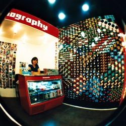 First Lomography store in South America opened in Santiago, Chile. The store really represents the heart of Lomography, creating a very friendly, simple and creative atmosphere using everyday elements to decorate this Lomographic world.