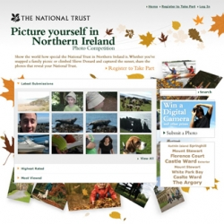 National Trust Northern Ireland's latest 'Picture Yourself' campaign encourages people to visit their properties, take photos of their experiences and post them online. All images submitted this year are to be utilised in next year's campaign.