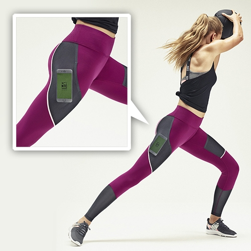 Nike Power Legendary Training Tights come with a pocket for your phone, to make hands free workouts a bit easier.