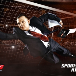 Fun campaign by TBWA Istanbul for sports channel NTV Spor. The sport speakers are embedded inside the action.