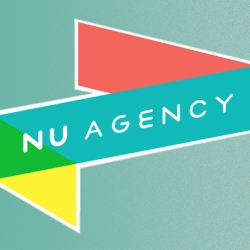 London based designer Valero Doval has created an awesome logo for Swedish NU Agency.  NU Agency is currently showing of their illustrators at the coffeebar Solde in Malmö, Sweden.