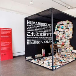 Numabookface, a collaboration between design collective Nam and specialty publisher Numabooks that combines installation and bookstore.