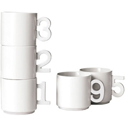 These Hoshiko number mugs are super cute.