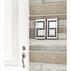 Numbra House numbers for (classy) geeks. -by Umbra