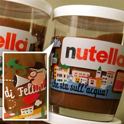 Up close with the Nutella Esperienza Italia 150 limited edition collection of glasses by ARC'S ~ even better in person than in the renders! Adorable illustration details!