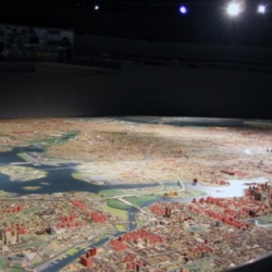 This panorama of all five NYC boroughs at the Queens Museum of Art is bigger than my entire apartment!