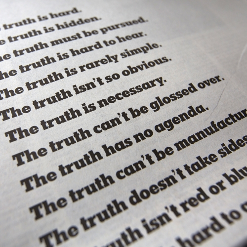 New York Times ad campaign about TRUTH. Nice work from Droga5. A good wake up call and reminder for everyone!