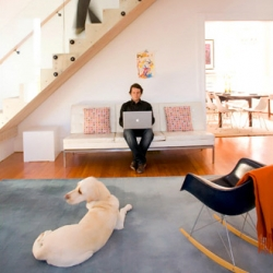 In the Haight-Ashbury district of San Francisco, a hippie boardinghouse once run by an elderly lesbian minister is now a family home remade with a warmed-up modernism and the restrained inflections of Norwegian design.