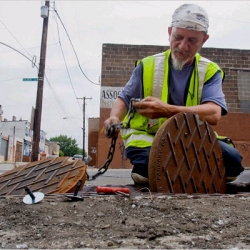 mining for manholes in philadelphia?
