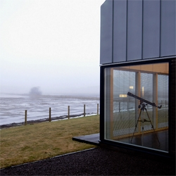 Peter and Jennifer Drummond's Scottish home, the Shed by LJRH Architects.