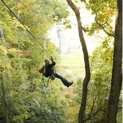 At Spring Mountain ski area, in Schwenksville, PA, you can catch a glimpse of the fall foliage up close in the canopy.