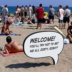 Brilliant public service campaign at the beach in Barcelona