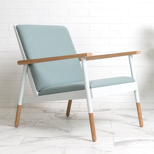 Haven Lounge Chair in Jade & Oak by Revolution Design House. New furniture line, all designed and made in Portland!