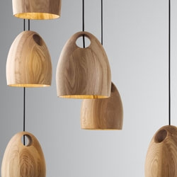 The new 'Oak' pendant light from Australian Designer Ross Gardam is hand-turned by a master craftsman in Melbourne.