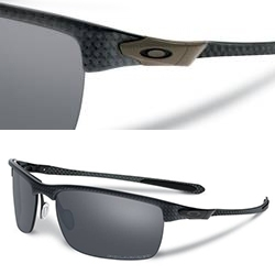 Oakley Carbon Blade - carbon fiber frame with titanium forged hinges.