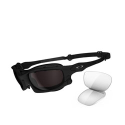 Oakley Wind Jacket with snap=in gaskets and a protective seal for traveling at high speeds.