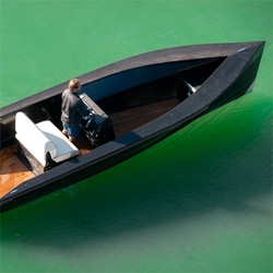 SAY Power , is a small carbon tender for lake and sea. It features a 140hp engine capable of 35 knots.