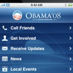 Obama '08 campaign has released a beautiful and powerful iPhone app that lets users get involved locally and better understands his stance on the issues.