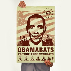 Obamabats ~ for when you're speechless and can't type words.... congrats to our 44th president ~ Barack Obama!