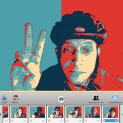 "If you liked the red-white-and-blue look of the Barack Obama ""Hope"" poster designed by street artist gone viral Shepard Fairey, Dubi Kaufmann has made a plug-in for Photo Booth that allows you to ""Obamafy"" your photos."