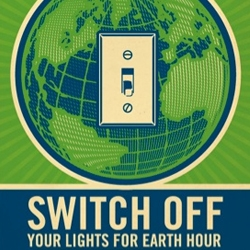 Check the posters for WWF Earth Hour 09 campaign made by Shepard Fairey.