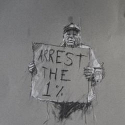 Sketches by Guy Denning of the Occupy protests.