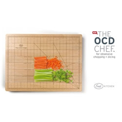 New from Fred, the OCD chef chopping board, for more precision cuts. On page 11!