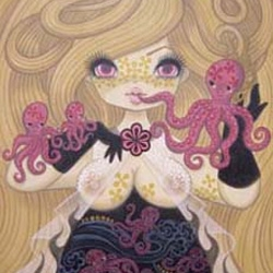 Red Tresses and Freckles, artwork of Junko Mizuno - Design Milk has a peek at the upcoming show at Narwhal Art Projects.